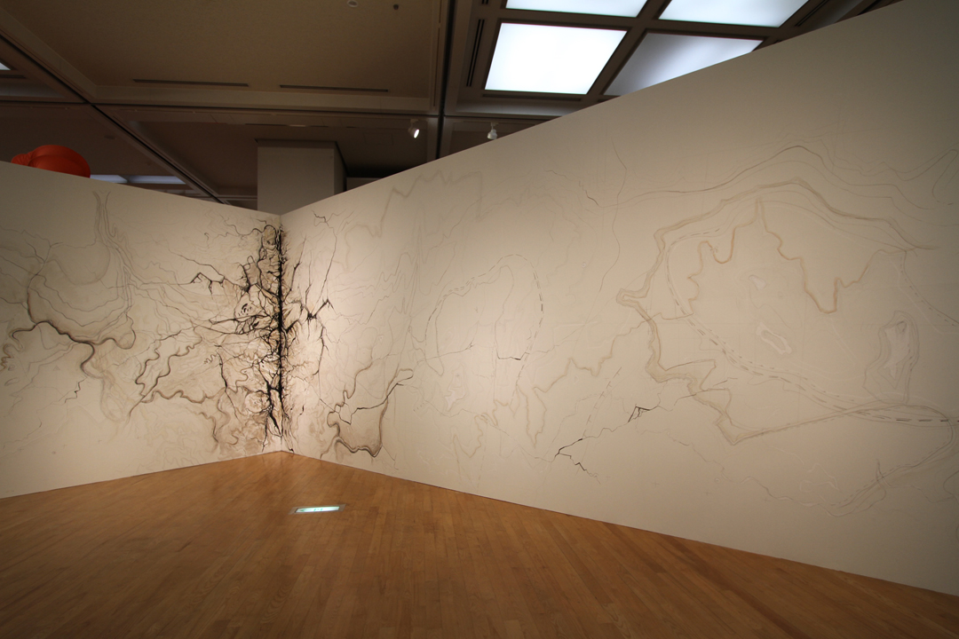 North is Up - rohini devasher -wall drawing - 2014 Japan (3)