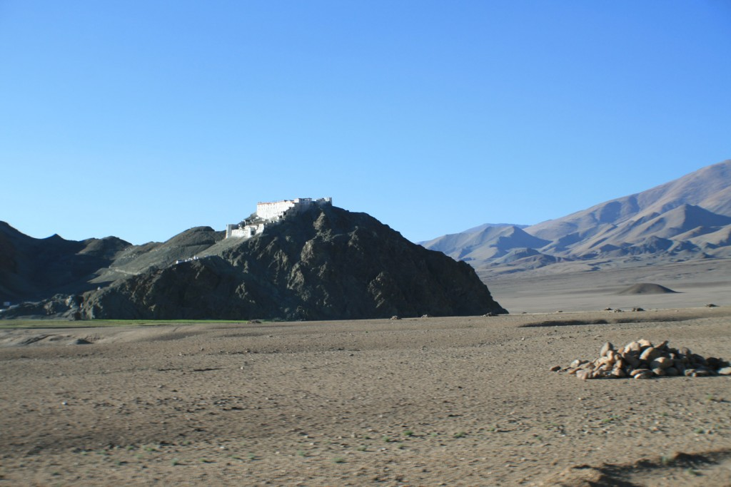 the ancient 14th century Hanle monastry that overlooks the observatory