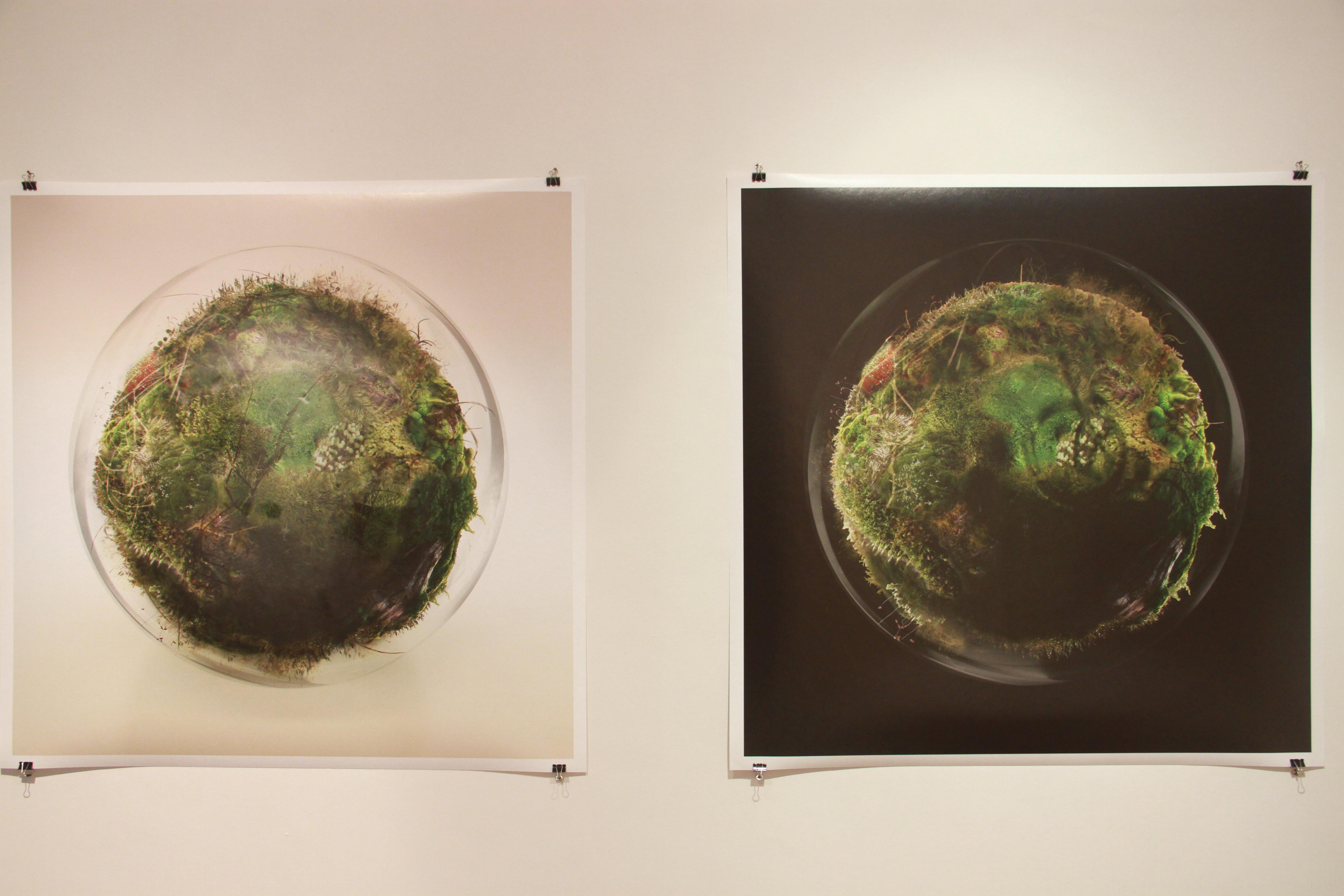 Terrasphere, archival pigment prints 44 x44 inches, 2015   image credit Suresh Pandey