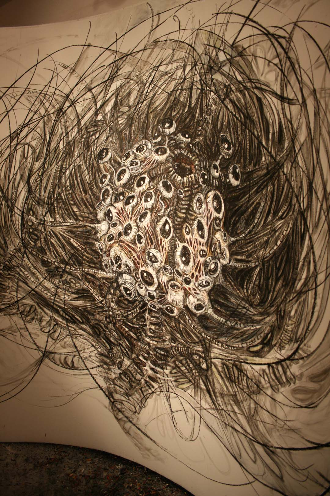 rohini-devasher-copyright-untitled-wall drawing II (detail 2)- 2008