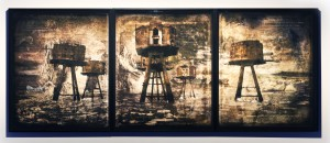 Encounters of the Remote kind | drawing on archival pigment print | 155 x 62 inches | 2016